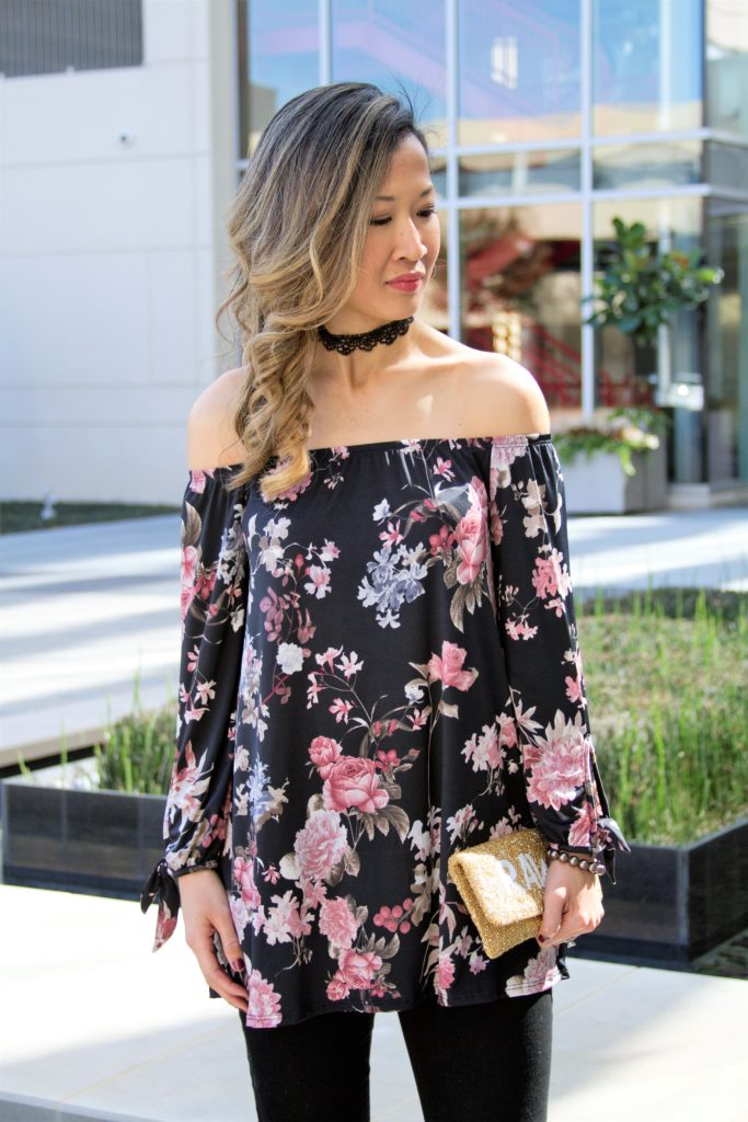 Floral Off the Shoulder Outfit