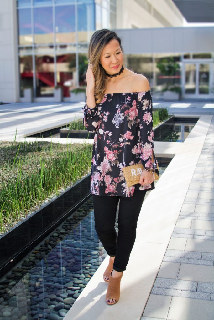 Spring Style: Off the Shoulder Floral Top