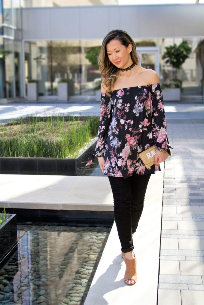 Pink Blush Floral Top Outfit