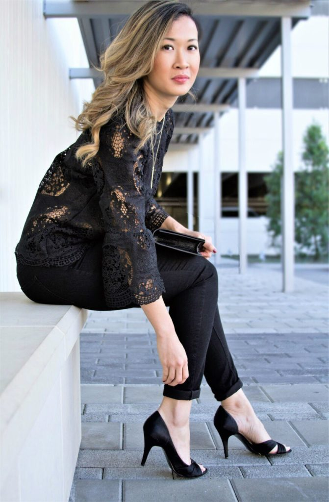 black lace top style