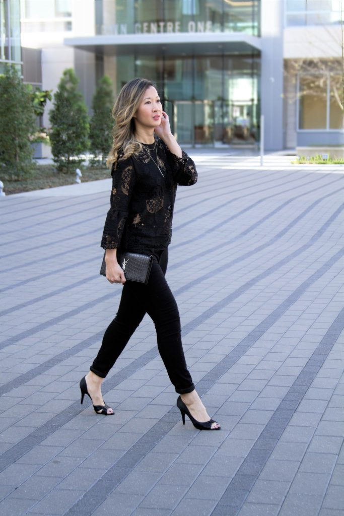 classic black lace outfit