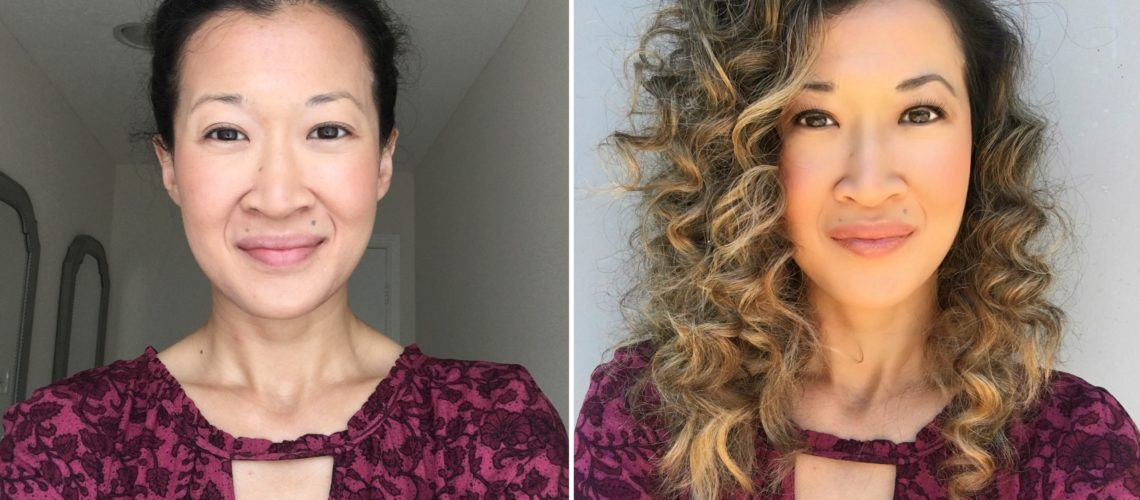 before and after beauty makeover