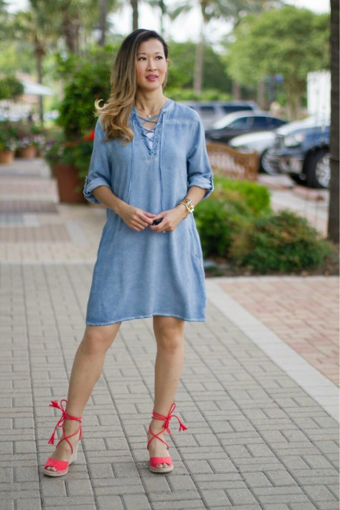 Annie Allbritton Chambray Dress