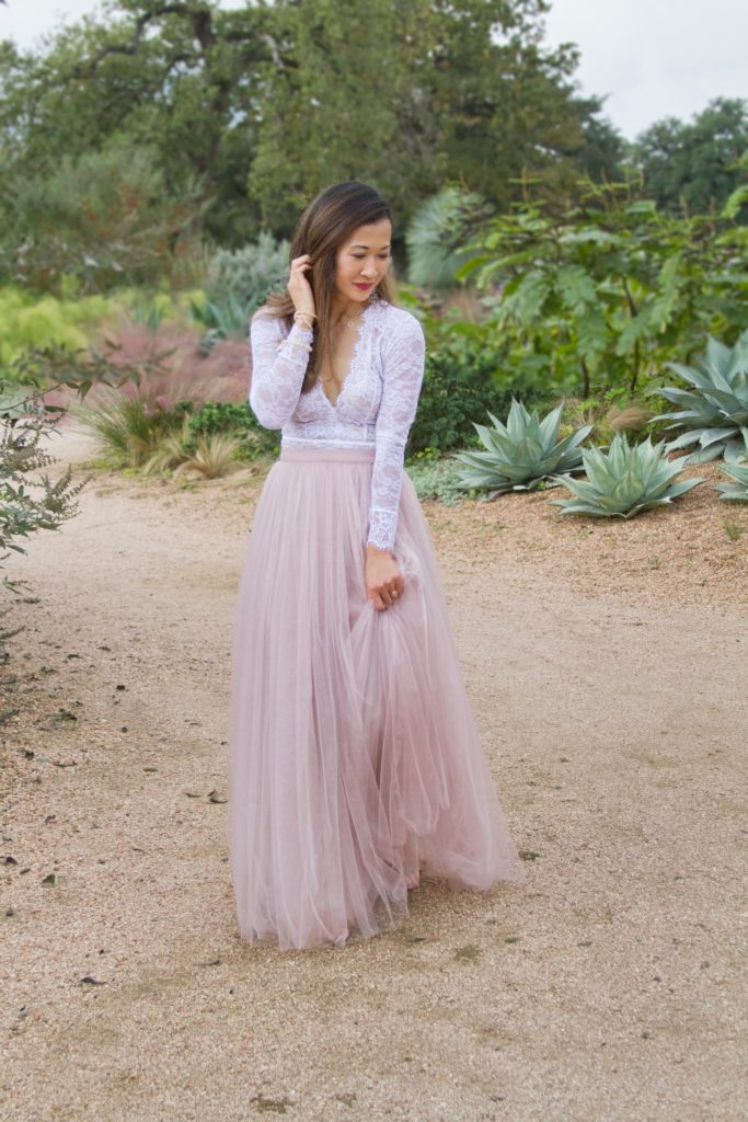 pink tulle skirt outfit birthday photo shoot