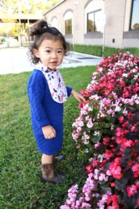 toddler blue quilted tunic