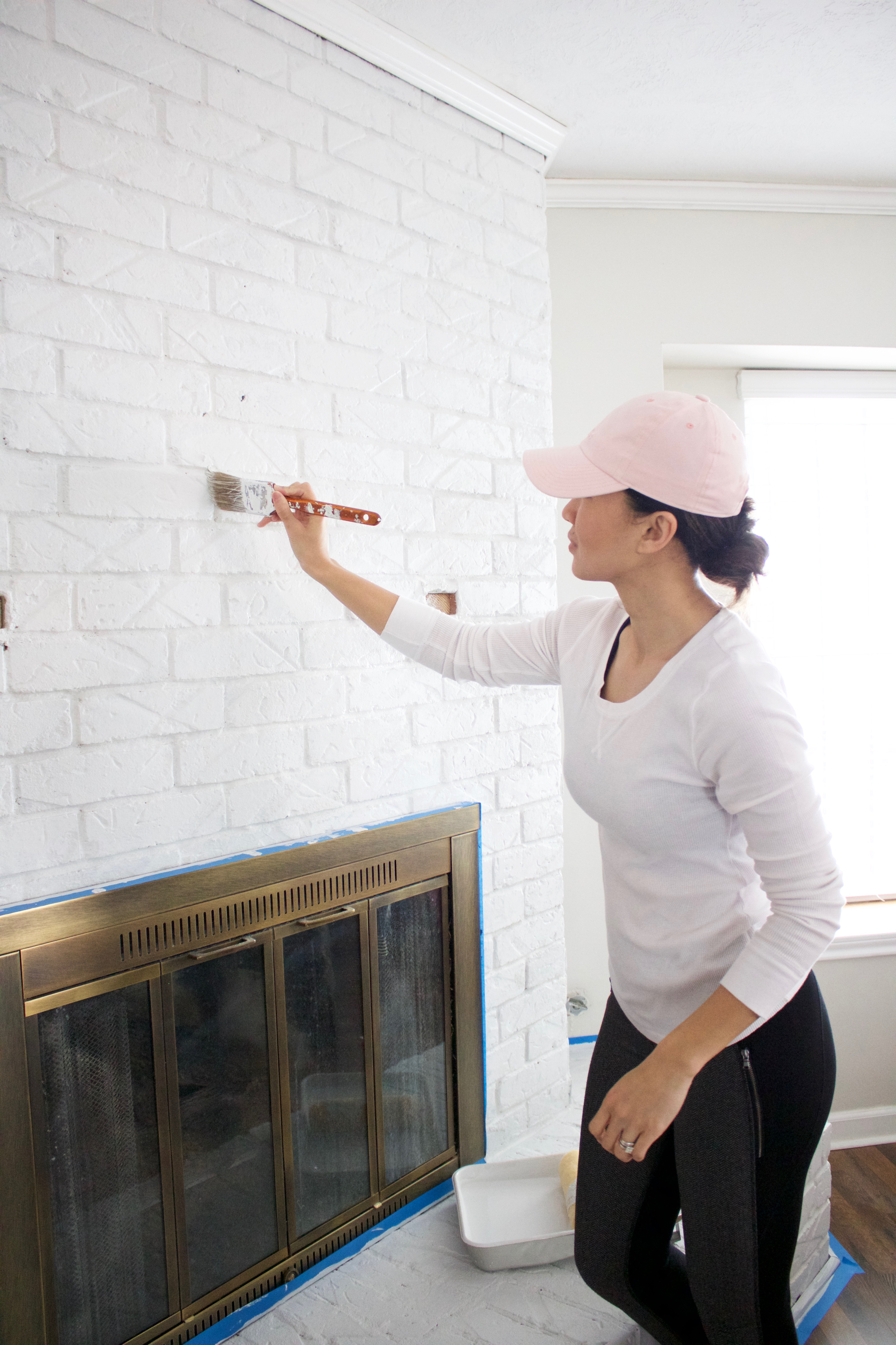 Brick Fireplace Remodel Ideas Before And After A Beautiful
