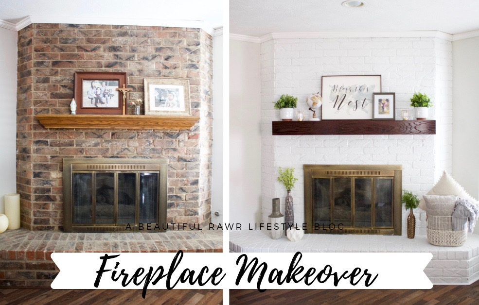 Fireplace Makeover On A Budget